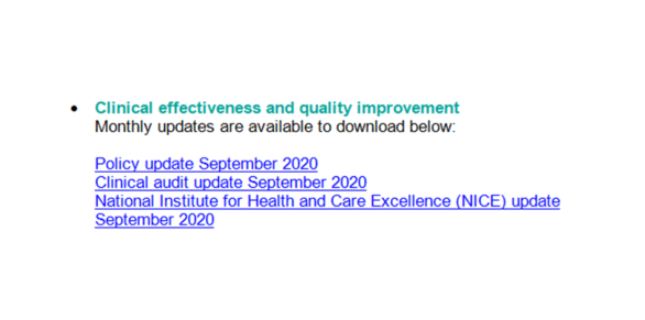 Policies, NICE (National Institute for Health and Care Excellence), and Clinical Audit Bulletins went out yesterday in the #PennineCarePeople Stay Connected email. Check your emails and contact the Clinical Effectiveness & Quality Improvement Team if you want more info. https://t.co/F1JdmpoSGS