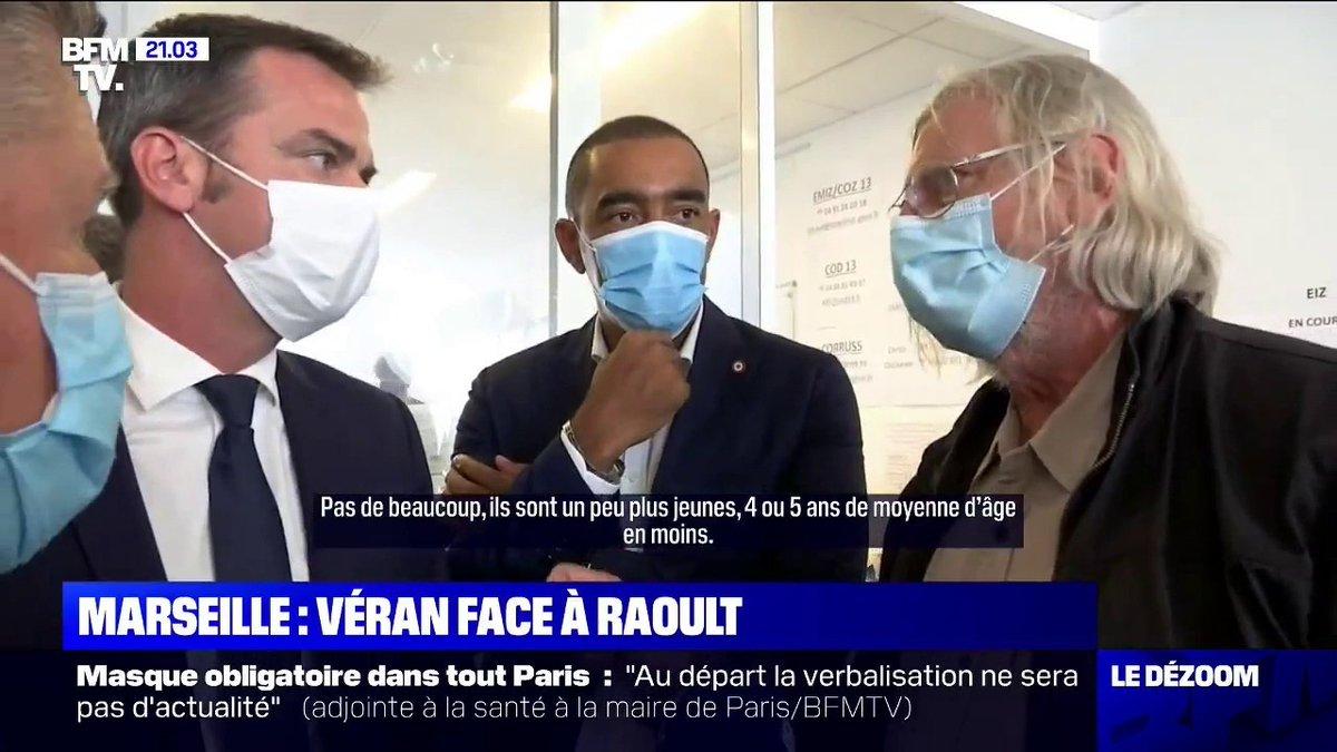 Olivier Véran poussé à la faute ? 🤔  Pr. #Raoult Vs #Veran  #COVID19 #Marseille https://t.co/nyKkTUupKX