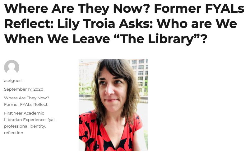 We love #librarians at Digital Science! Check out our North America Solutions Account Manager @lilytroia's @ALA_ACRL #ACRLog post about #librarianship and how she ended up joining our team! #librarians #scholcomm #scicomm #datalibs https://t.co/UbDWEUh8xo https://t.co/mtqPOlXxR4