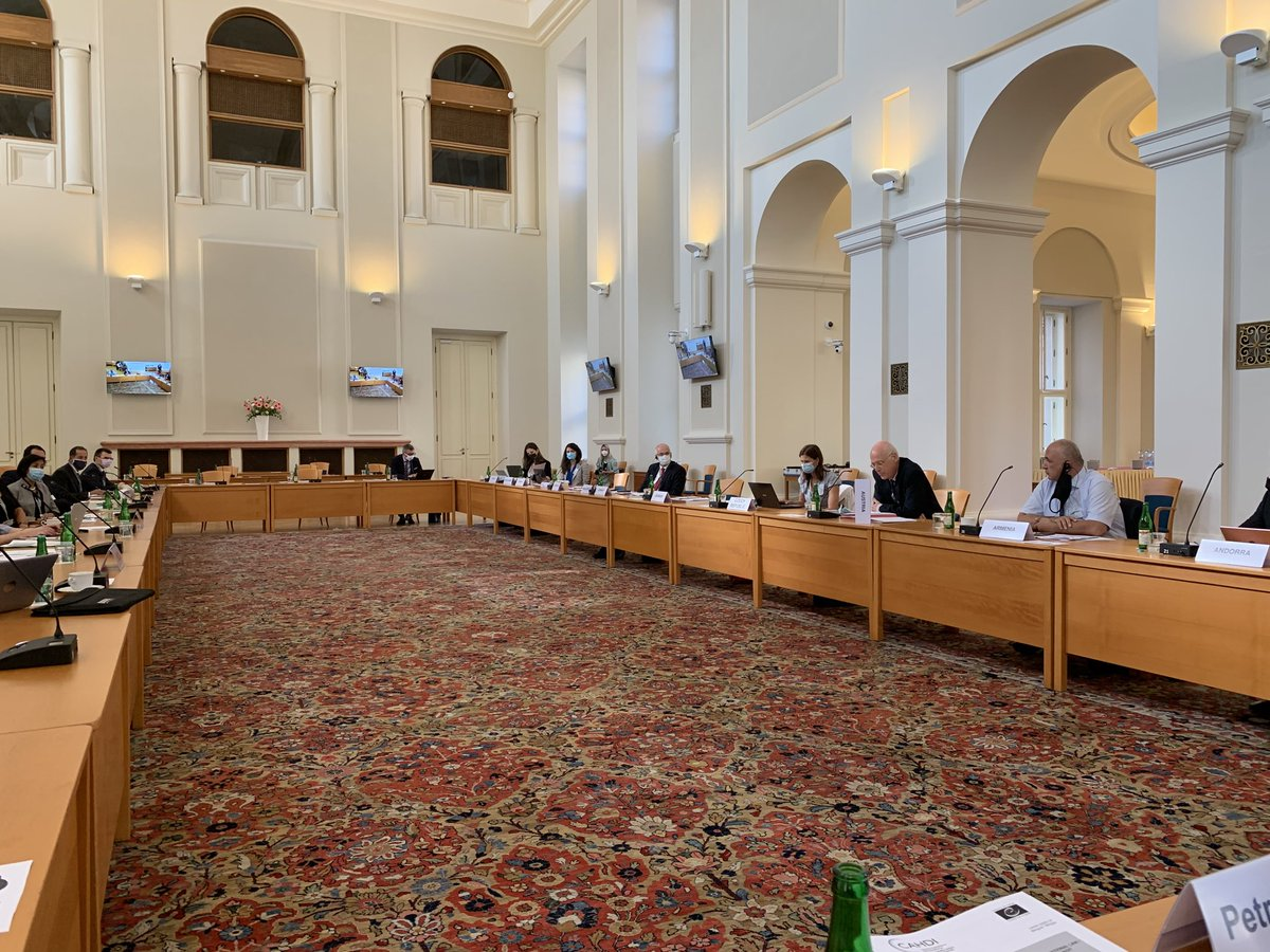 Deputy Minister for Foreign Affairs Martin Smolek opens 59th #CAHDI 'hybrid' mtg of legal advisers on public Int'l law in #Prague https://t.co/ZjVq229cdX https://t.co/GCvT5A6Yz9