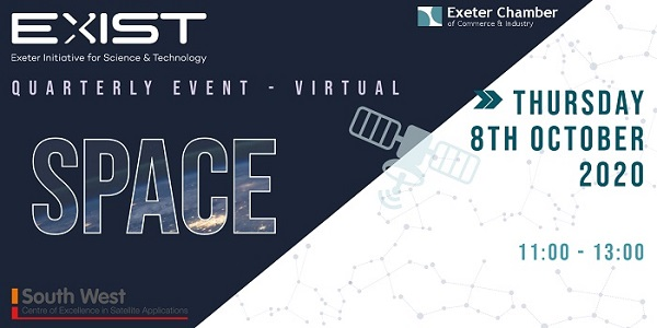 EVENT  |  08.10.20  |  SW SPACE  |  Webinar  Hear about the growth of the space industry, investment in the SW region and funding opportunities for businesses. @DigitalTaunton @UKHO @efbd_impactlab @tn_southwest @PlymSTEM @Plymouth_Web @ExIST_Exeter https://t.co/zyKNjnJroI https://t.co/lky9OWPgZ3