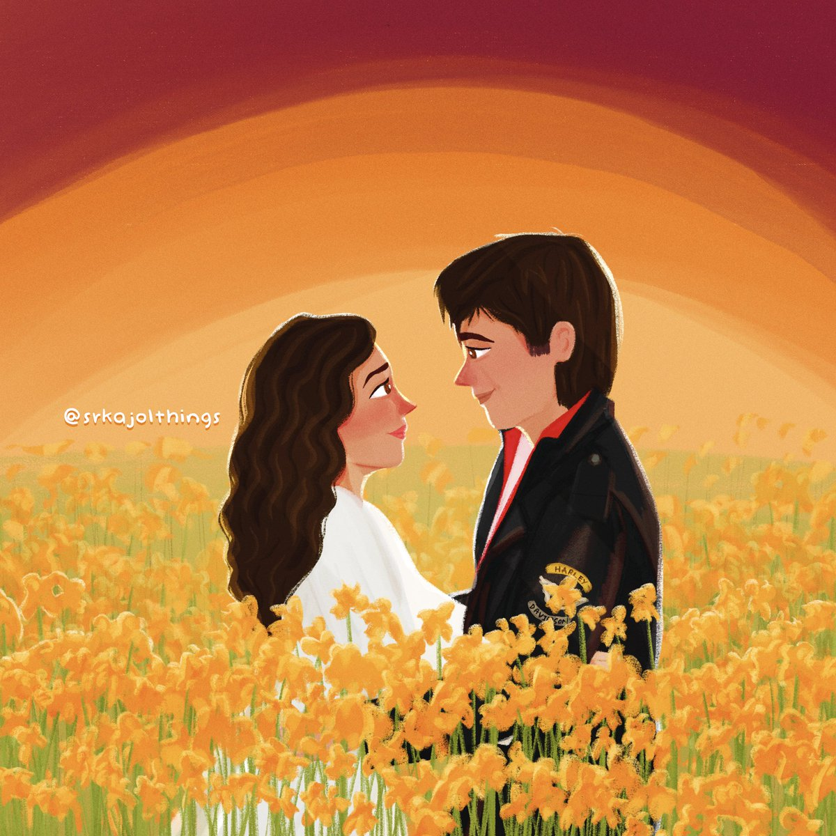 Tujhe dekha toh yeh jaana sanam. 💕  Hoping to complete 3 illustrations of Raj and Simran in celebration of DDLJ reaching 25 YEARS! I hope they have something planned. Ahem @yrf ahem. 🤣  #SRKajol #SRK #ShahRukhKhan #Kajol #KajolDevgan @itsKajolD @iamsrk  https://t.co/EVIK4lRINx https://t.co/YQfHZ9V3LA