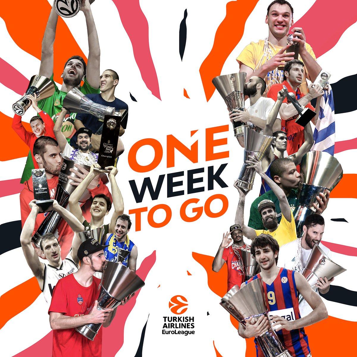 7 DAYS!  #EuroLeagueisBack https://t.co/1x1T5vG6WO