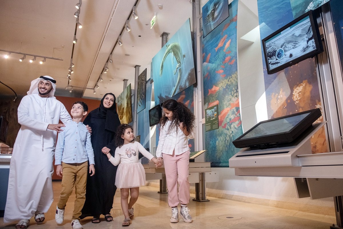 Travel through time to more than 100 MILLION years ago & Discover the #AnimalKingdom's wonders & secrets🐾  at the #Sheikh_Zayed_Desert_Learning_Centre ✨ ⏰: 3 PM – 9 PM  📅: Daily https://t.co/W3lMCT9bAm