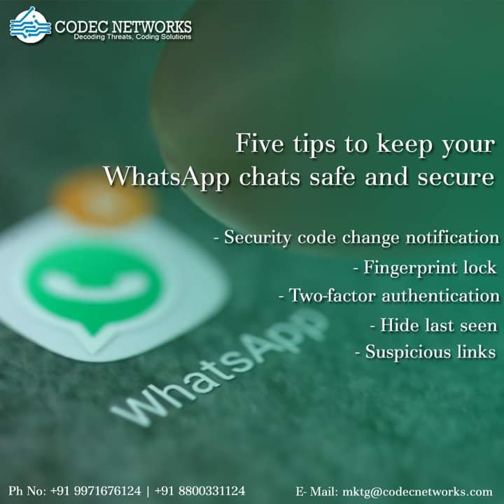 """""""Usually, a #security flaw in @whatsapp has come to light that allows potential #hackers to alter the #image, #audio or #video files. The vulnerability stemmed from how media files are stored in WhatsApp. Read 5 ways to safe #WhatsApp & #Chats & more https://t.co/fYvvnySFQq https://t.co/1GxZdwCM0L"""