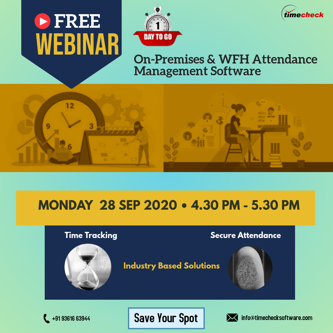 Worrying about handling both #OnPremises & #WFH employee's #attendance during pandemic crisis?  Join our free #webinar @ https://t.co/ur8oYXvoAw to know more about the timesheet optimization technology  #Manufacturing #Engineering #IT #Organizations #Transportation #Logistics https://t.co/RGPVZl3ooq