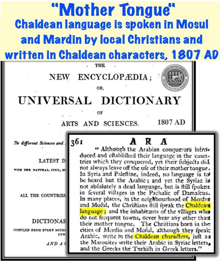 """Chaldeans """"Mother Tongue""""   #Chaldean #Language is spoken in #Mosul and #Mardin by #Christians and written in Chaldean Characters, 1807 AD https://t.co/IVTBfWoEza"""