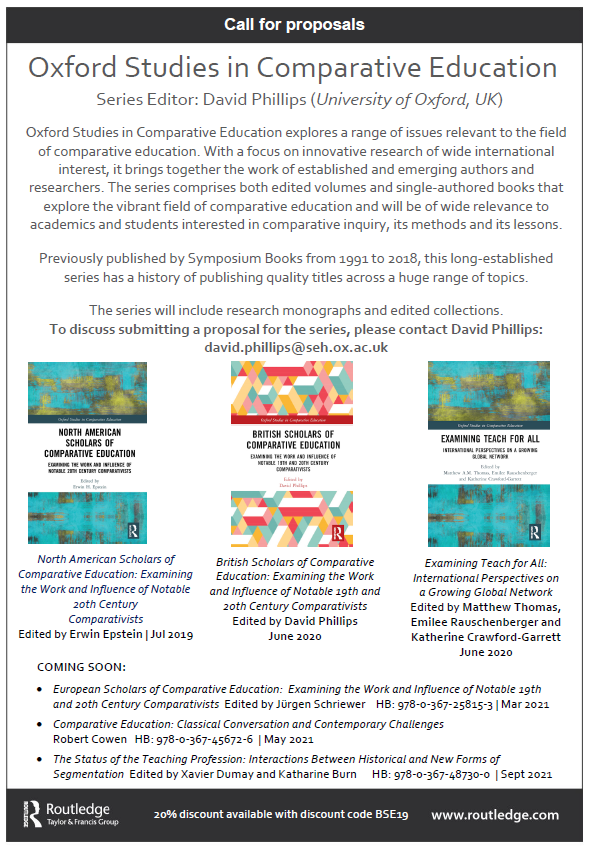 While it's a shame not to attend #BAICE2020 this year, I'd love to hear from people working in comparative education interested in writing a book, especially for our Oxford Studies in Comparative Education series https://t.co/9euN6sYwz5 #ComparativeEd #edresearch #InternationalEd https://t.co/u22BUdUPJT