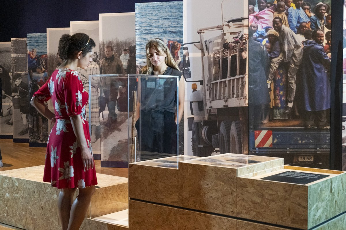 It's here! 'Refugees: Forced to Flee' opens at the Imperial War Museum London today. It features seven research projects on refugee experiences supported by @AHRCpress and @ESRC https://t.co/qYHSBWdORC #IWMRefugees @I_W_M https://t.co/JVwXu6K2rz