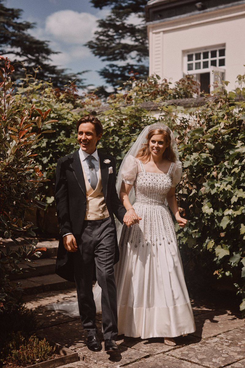 It was altered for Her Royal Highness to wear for her wedding to Mr Edoardo Mapelli Mozzi in July 2020.