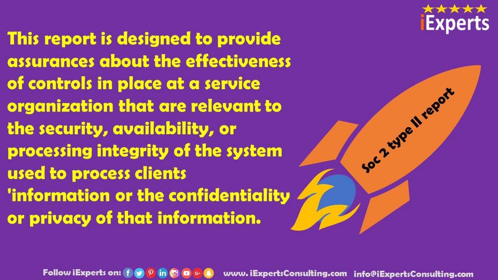 SOC 2 type || Report 🔐   #soc2 #socanalyst #cyberawareness #cyberprotection #infosec  #cybersecurity  #dataprotection #privacy #security #datasecurity #informationsecurity https://t.co/7K8k8giorG