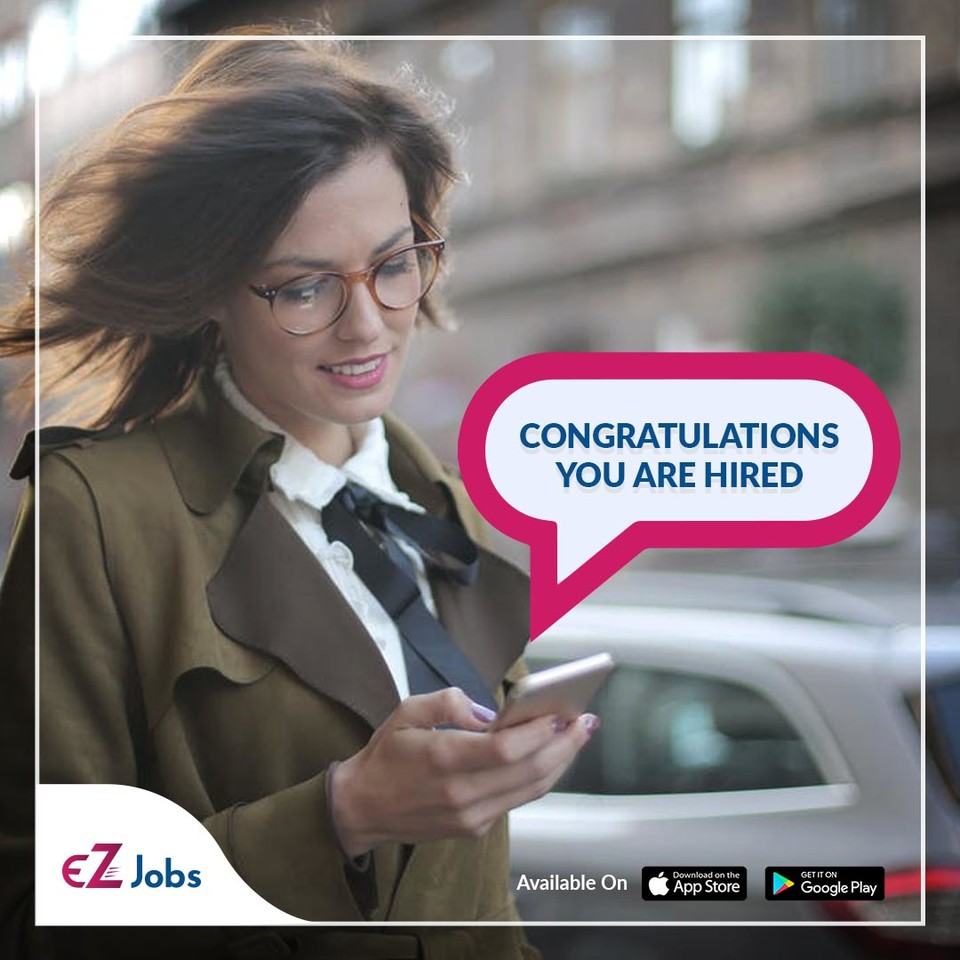 You can, too. Find jobs on the go with the EZJobs app Get the app here: https://t.co/p9DElLSYwG   #EZJobs #jobs #happy #congrats #goodnews #congratulations #celebration #smile #app https://t.co/Ge8TD17JNI