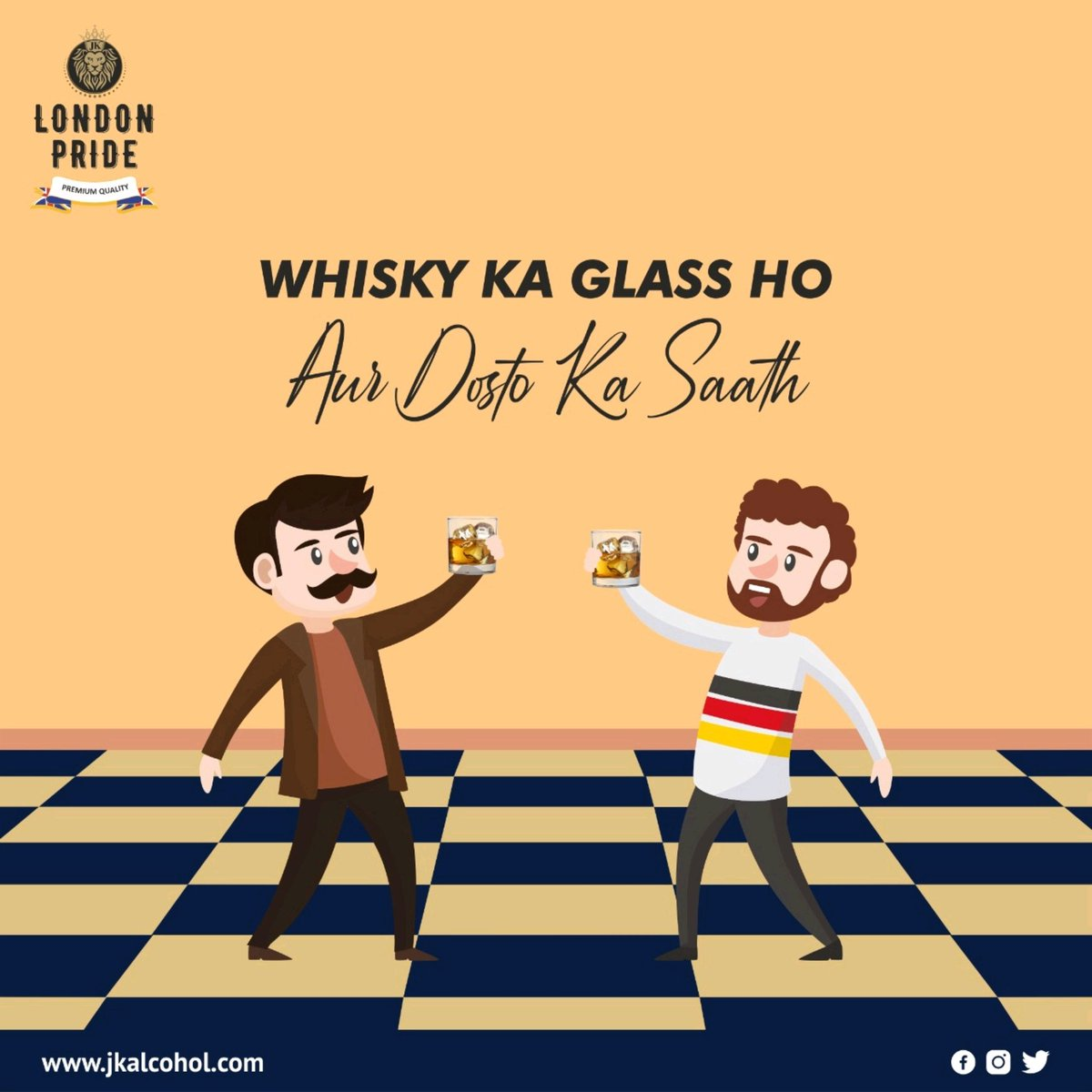 Invite your friends over and enjoy the IPL match with a bottle of your favorite drinks! From delicious cocktails to downing it neat, there's many options for you! . #jkalcohol #Jkgroup #JkEnterprises #londonpride #Londonreserve #whisky #vodka #rum #premiumwhisky #indore #gwalior https://t.co/QHH5BAGbES