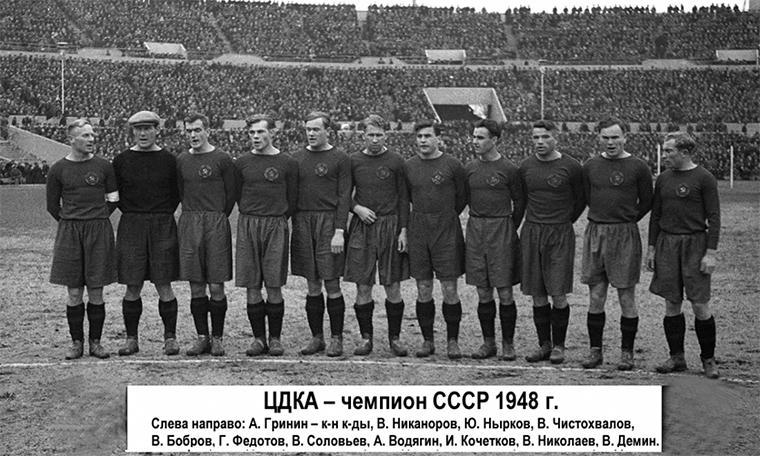 24 сентября 1948 года команда ЦДКА обыграла московских динамовцев, в третий раз завоевал титул чемпионов СССР  📄 #историяЦСКА: https://t.co/Tsx44sHSGj https://t.co/Mx57EPkLKP
