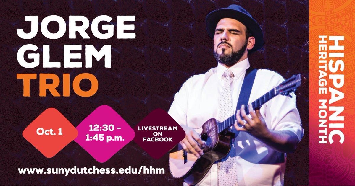 Our celebration of Hispanic Heritage Month continues next week with the Jorge Glem Trio live on Facebook! Learn more at https://t.co/xKOvhlZzmT https://t.co/64HOnRJpol