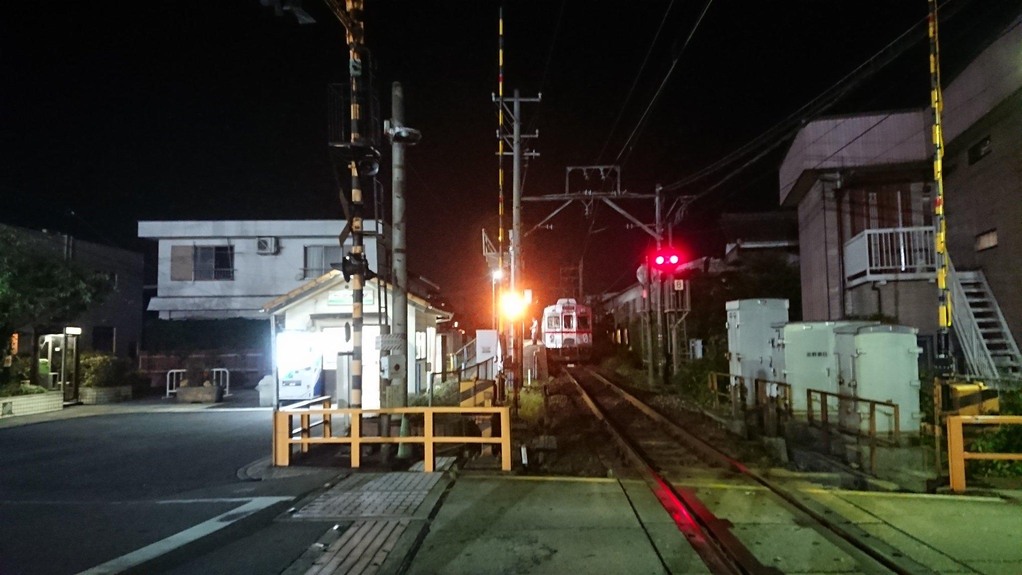 画像,養老鉄道は西大垣~大垣~揖斐間で電車線(架線)の停電のため運転見合わせ中です。利用者の皆様、現場係員の皆様ご苦労様です。 https://t.co/lO2L2w…