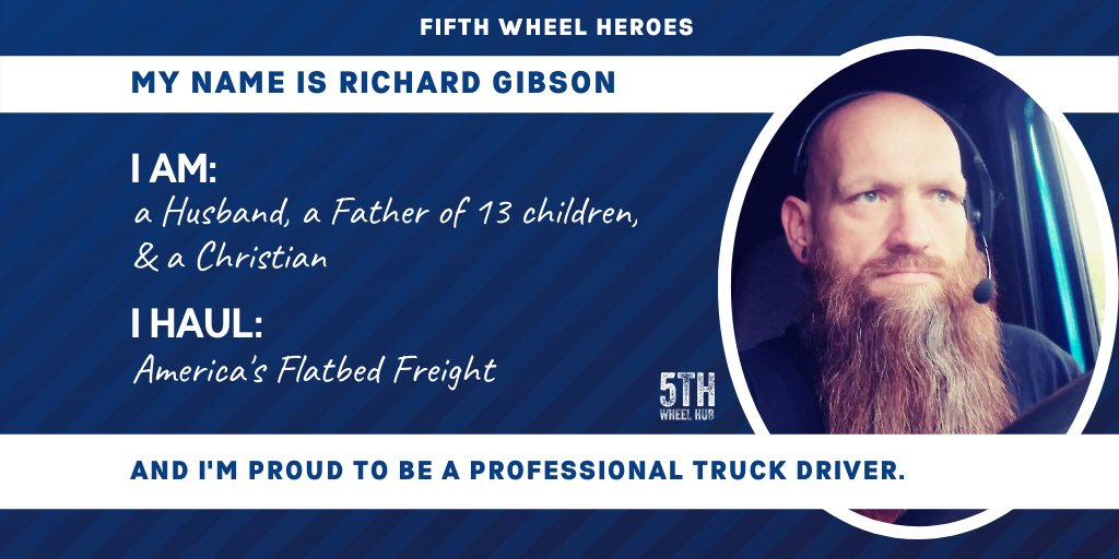 Help us honor our 5th Wheel Heroes like Richard and nominate the driver in your life! Click the link for submissions- https://t.co/zY0wzDSEf2 #trucker #truckdriver #cdldriver #trucking #cdldrivers #truckinglife #truckerlife #truckerlifestyle #cdlcommunity #freight https://t.co/MdNIOLkMp0