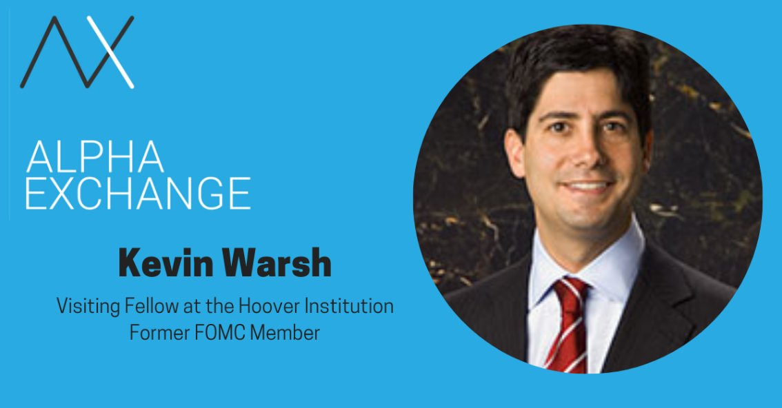 Here is the latest episode of the #alphaexchangepodcast, a conversation with former #FOMC Governor Kevin Warsh. We discuss #crisis periods, policymaker reaction to stress events and the recent review of #inflation by the #Fed.  https://t.co/CZScRgKdhk https://t.co/b7fAxNJXoU