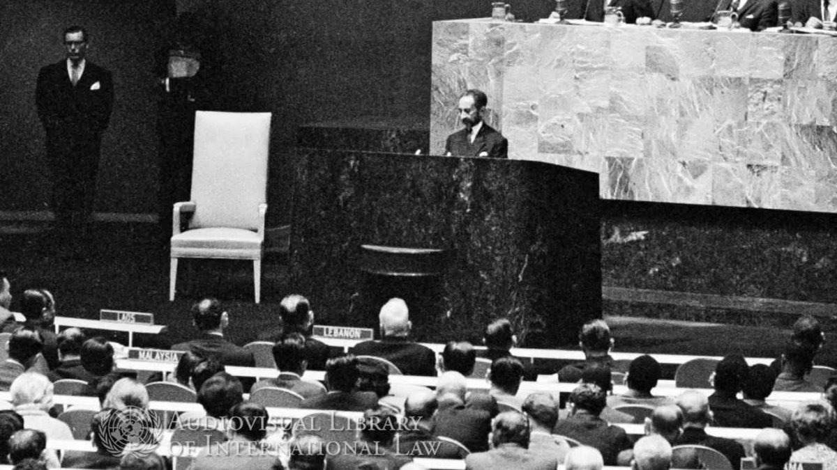 "Best #UNGA speech ever? ● Emperor Haile Selassie of Ethiopia's (1963), set to music by @bobmarley; ""until the philosophy which holds one race superior and another inferior is finally and permanently discredited and abandoned… the #African continent will not know peace."" https://t.co/MpFyArjLHC"