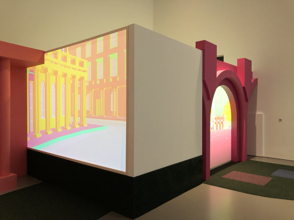 #OnThisDay last year, the 'Playing the Picturesque' exhibition opened at @EdgeArtsBath; an interactive installation that explored the boundaries between virtual and digital space. 🏰 https://t.co/X6OW9T4ACS