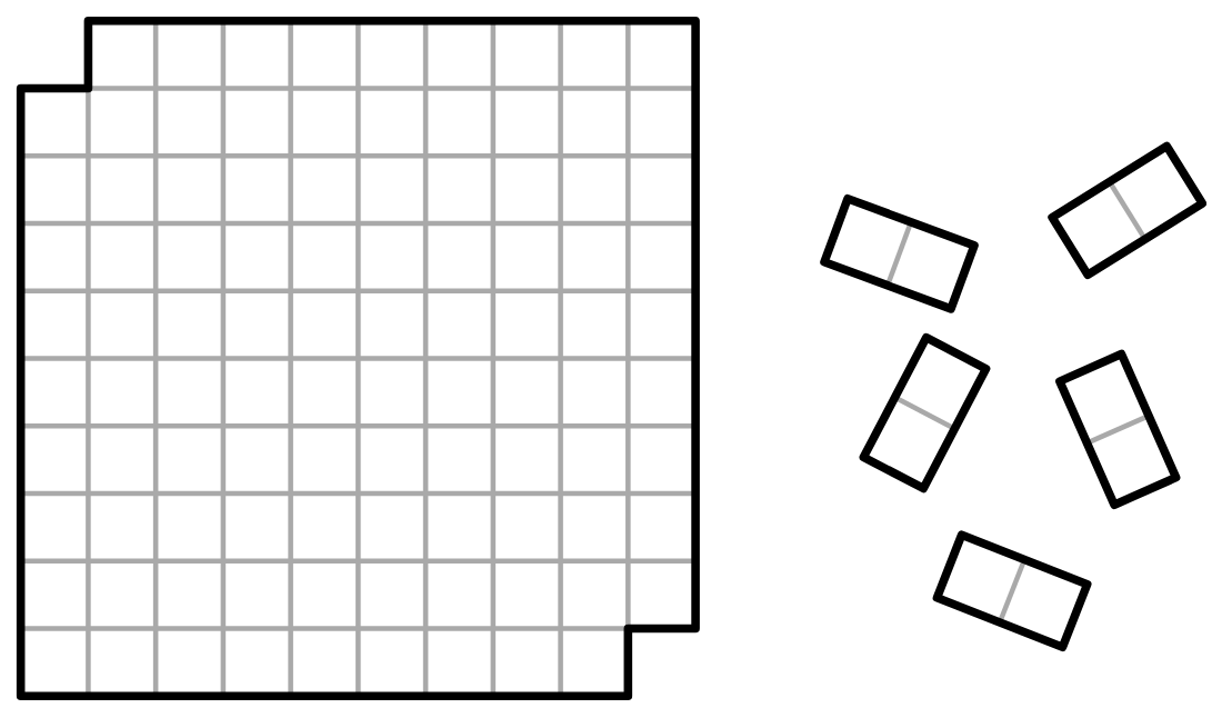 Can we tile a 10×10 board with the top left and right bottom squares removed with 2×1 dominoes? If not, why? 🃏🀄🎴 https://t.co/nXraNE4qd7 #math #science #iteachmath #mtbos #visualization #elearning #problemsolving https://t.co/ixiWMq8NFS