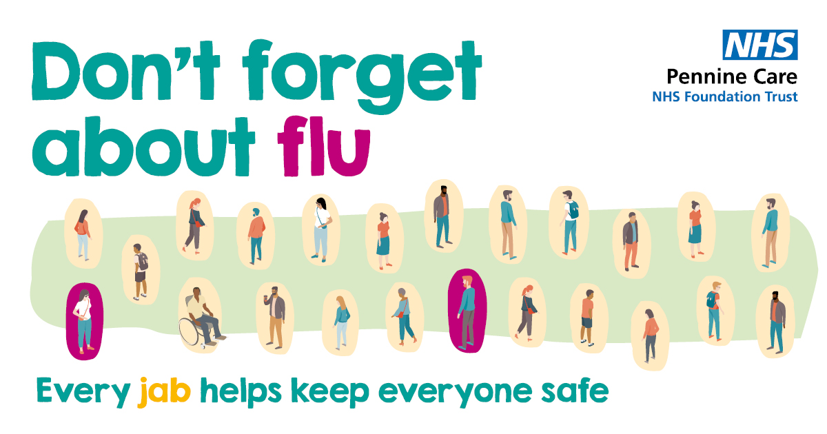 The flu jab remains the best method of protecting yourself and others from flu this winter.  Check online and speak to your GP or a pharmacist if you're eligible.  For our #PennineCarePeople you will be able to book your jab for 5th October onwards.  #DontForgetFlu #GetYourFluJab https://t.co/ctodefeSyY
