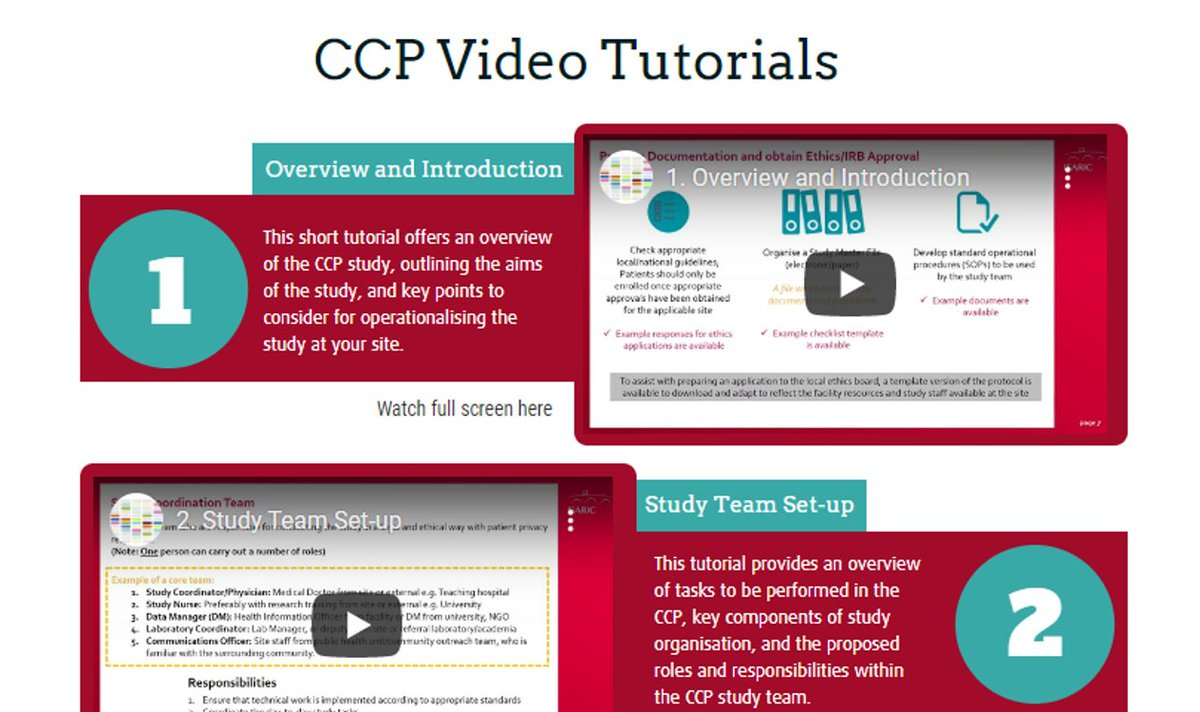 Watch new video tutorials to help you with the implementation of @ISARIC Clinical Characterisation Protocol (CCP). It covers study team set up, informed consent, data entry for case report forms and sampling and study design: https://t.co/UP4Rvz1eF6 #COVID19 https://t.co/9jUuT3orxC