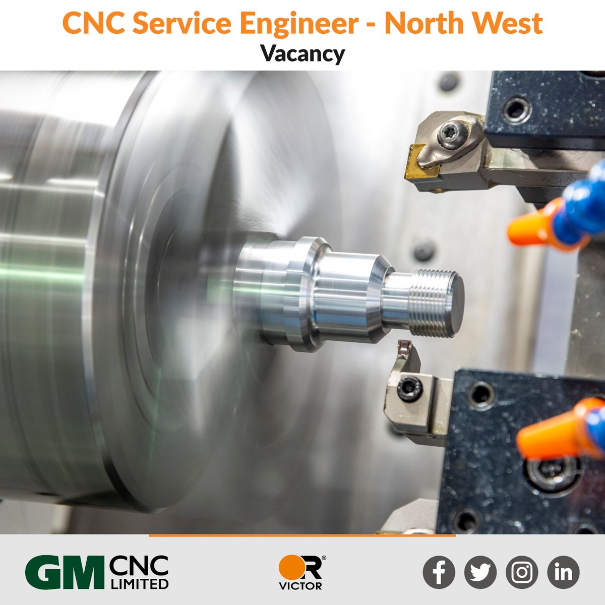 VACANCY - We currently have vacancies for 2 CNC Service Engineers, based in the North West, required to provide first class service to our customers. For more information and to apply see https://t.co/cdSTZME87l #Oldham #job #newjob #cnc #service #vacancy #Victor #gmcnc https://t.co/y3ySlGaAJL