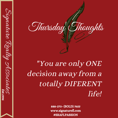 You never know until you decide... #ThursdayThoughts #Thoughts #Mood #Decisions #Focused #Goals # #Quoteoftheday #instarealtor #realtor #realestate #florida #sraflpassion #signaturefl https://t.co/V79EKqD1lM