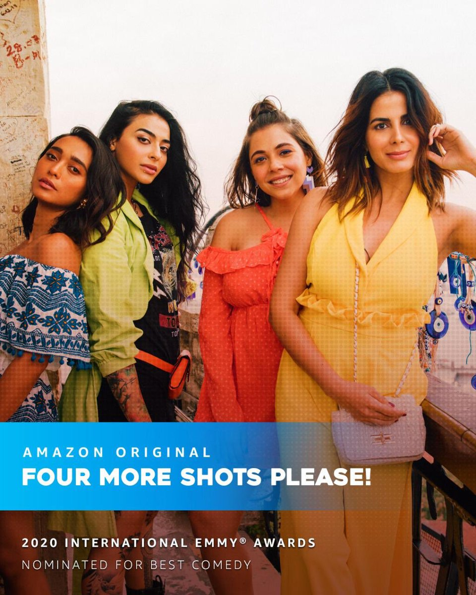 Thank you for your wonderful messages  on our 2020 International Emmy Awards nomination in the Best Comedy category for Four More Shots Please!  The nominations were announced today by the International Academy of Television Arts & Sciences in New York. Thank you @PrimeVideoIN https://t.co/dlNoIKdL0g