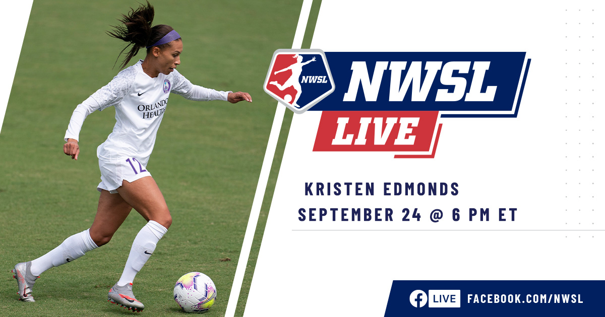 Kickin it live on @Facebook tonight 🎙 @ORLPrides @Kris10edmonds will be the guest as #NWSLLive makes its return for the #NWSLFallSeries.