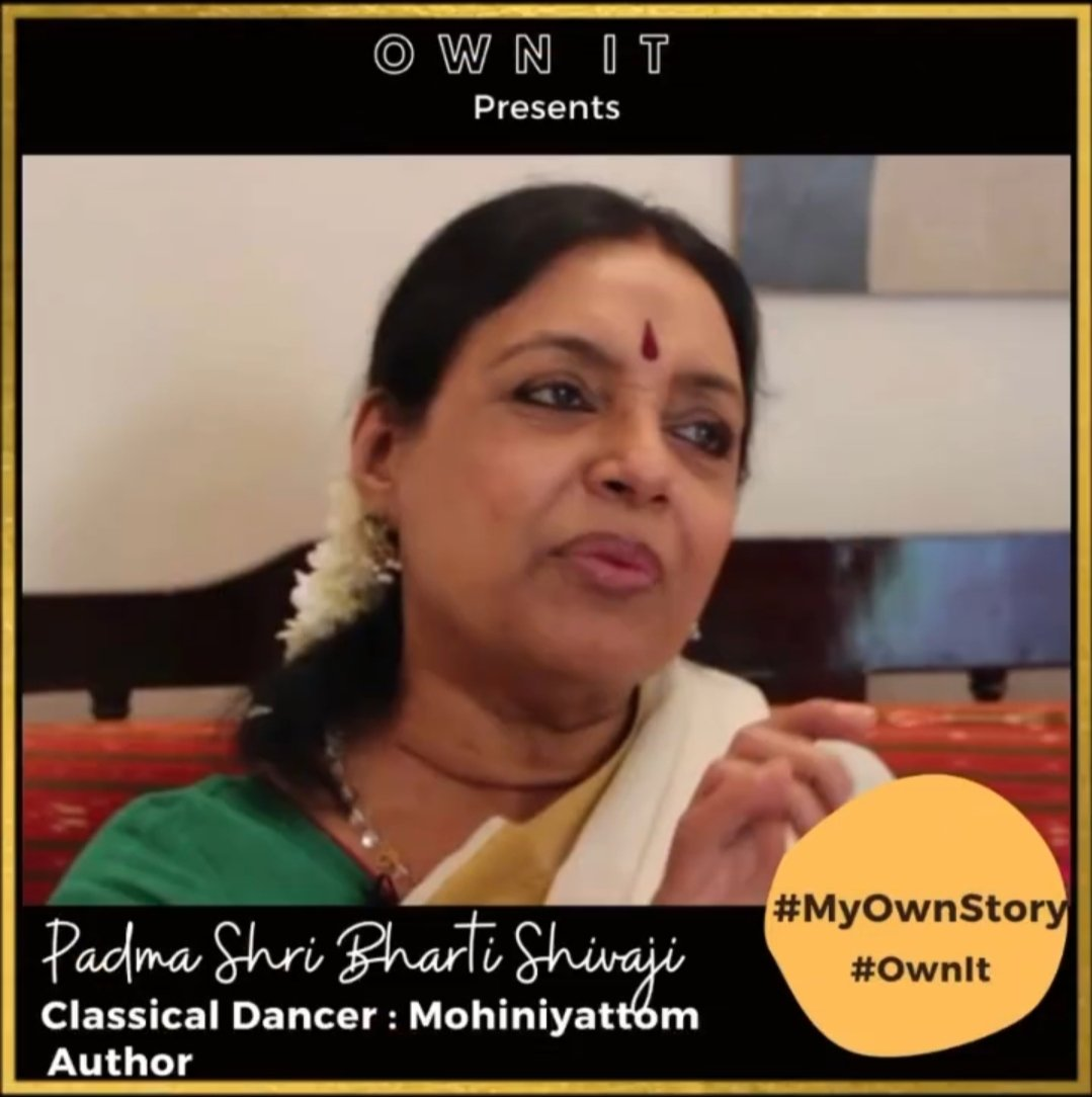 Padma Shri Bharti Shivaji on OWN IT–a  Mohiniyattam dancer, choreographer, and author of 3 books. #ownit #indianclassicaldance #padmashri #womenleaders #indianheristage #intagibleculturalheritage #indianauthor #womensupportingwomen #womeninspiringwomen  https://t.co/gUrj12d32j https://t.co/jqLvolqR33