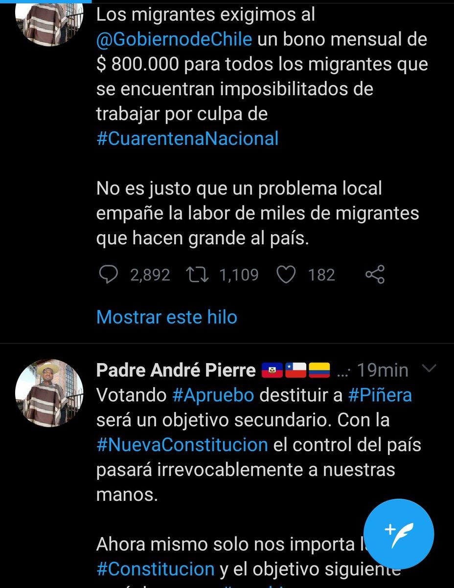 Miren este ahitiano lo que pide, y todos sus twitt son en este estilo!! #elrechazocrece https://t.co/Wl7vdXT5bN