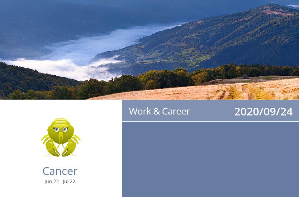 Work & Career Horoscope for Sep 24, 2020 => Read the rest at: https://t.co/QWq3Dkba4j How did we do? #Cancer #CancerCareer #CancerAstrology https://t.co/2VZYASkdk5