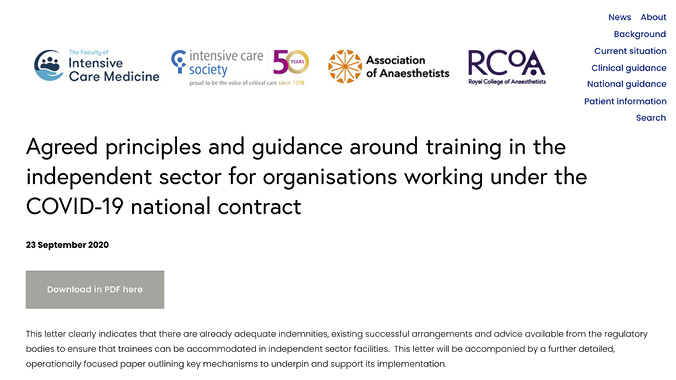 👉New important guidance on training in the independent sector https://t.co/hHvZT6Vh0e  @RCoANews, @FICMNews, @ICS_updates & @Assoc_Anaes are creating & sharing new guidance, info & resources to manage #COVID19  https://t.co/3AjpRpSbtL https://t.co/yjUh4DVvKI