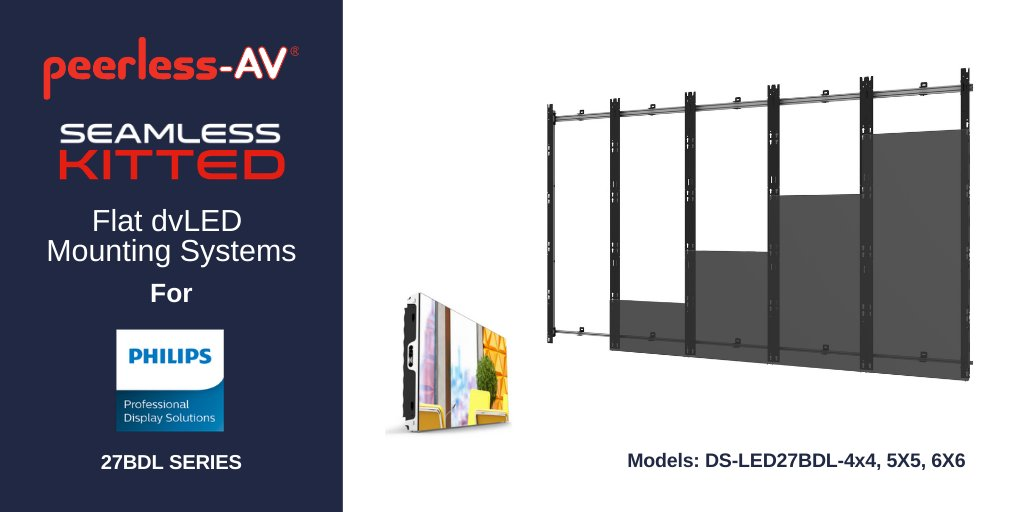 Peerless-AV offers dedicated dvLED Video Wall Mounts for @PhilipsDisplays 27BDL Series Direct View LED Displays. One of eight models in the new SEAMLESS Kitted Series, see them in action at ISE 2020 here: https://t.co/OGZzNMNWj8. Find out more: https://t.co/079xEimTLv #avtweeps https://t.co/JDoB1eOEcC