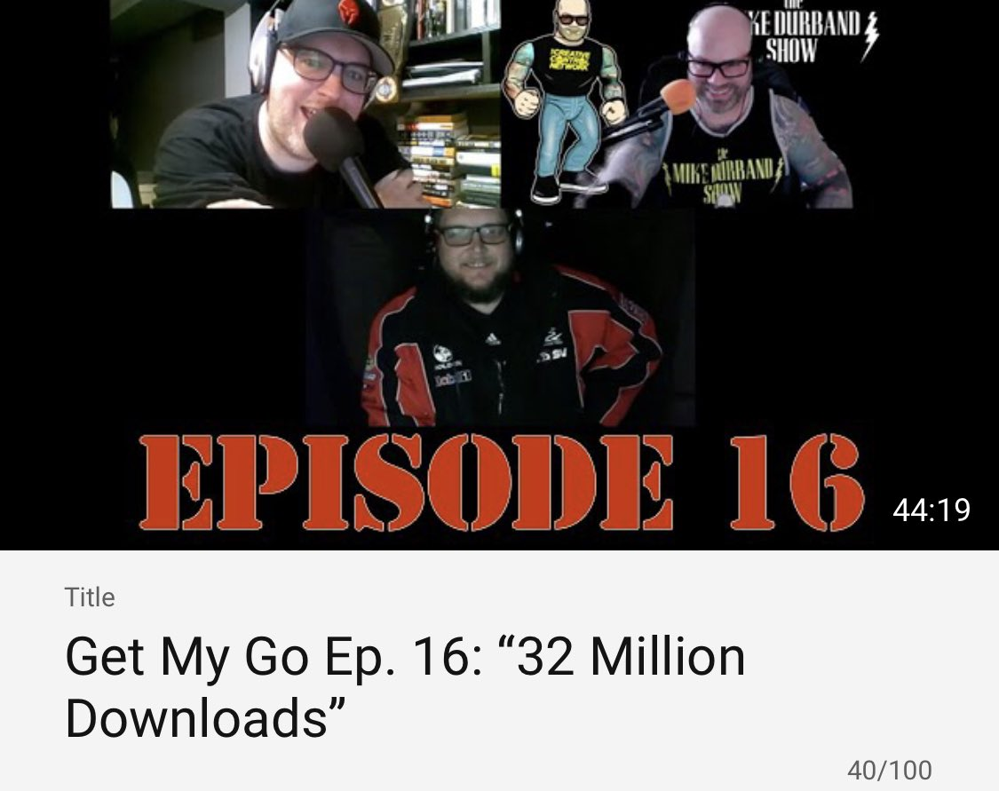 "🚨 NEW SHOW 🚨  #GetMyGo Ep. 16: ""32 Million Downloads"" featuring @thatsussieguy, @jffeeney3rd and @MikeDurband is now available at https://t.co/GNT3UfzW76! Watch HERE: https://t.co/EUVzL7Sx8A #ShareAShow #PodernFamily #PodSociety https://t.co/5wKJ99JyG4"