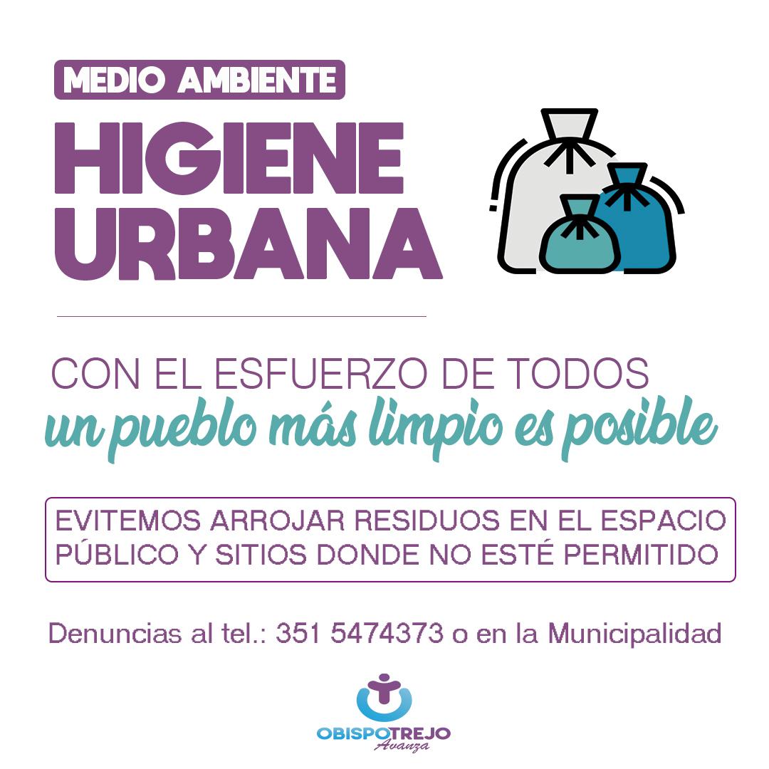 Con el esfuerzo de todos, un pueblo más limpio es posible. Cuidemos nuestro medio ambiente 🚮🌳  #HigieneUrbana #MedioAmbiente #Residuos #ObispoTrejoAvanza https://t.co/UbIbUQnY6F
