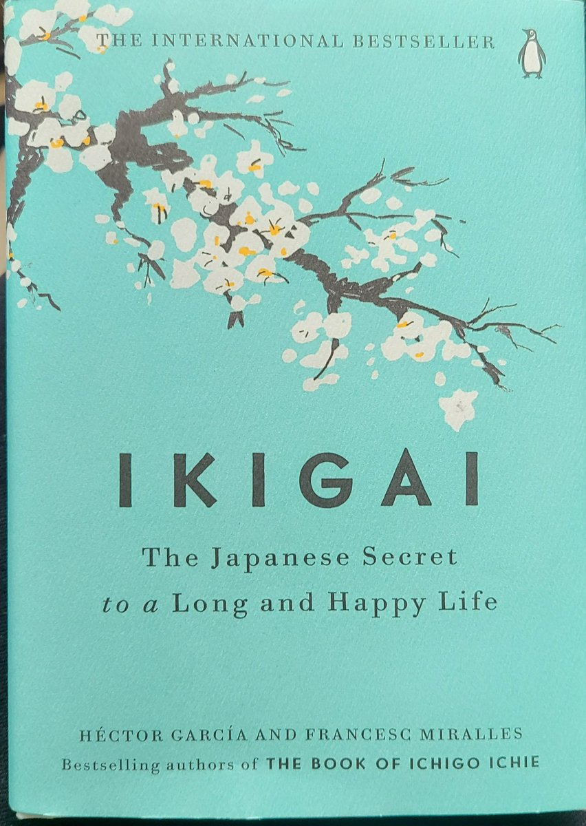 Currently reading.. #IKIGAI... The #Japanese #Secret to a Long and #HAPPY LIFE. Shout out to my husband @Jeff_fant for this #awesome early birthday gift. If you haven't read this add it to your list. Very good insight #hectorgarcia #francescmiralles #countdownto50 🎂 #libraseason https://t.co/e0WUSQ4bE8