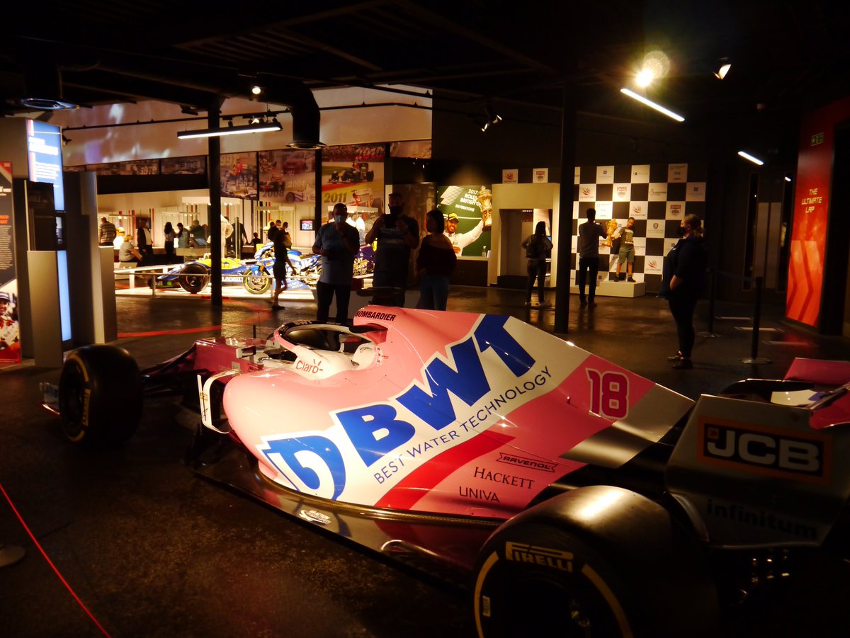 There's a new car on display at the Silverstone museum and it's causing quite a stir! If you're not in Sochi and you want to get up close to the 2020 @RacingPointF1 then you know where to come this weekend 😉  We're open Thurs-Sun so book now at https://t.co/xiLfottxSt https://t.co/eUhNzJd1ub