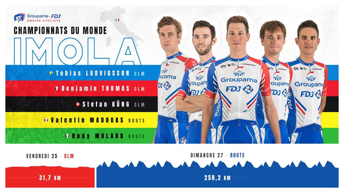Jour-J ! 🙏🌈  Départ à 14h51 pour 31,7 kilomètres d'effort face au chronomètre. ⏱  #Imola2020 l @FFCyclisme 🇫🇷