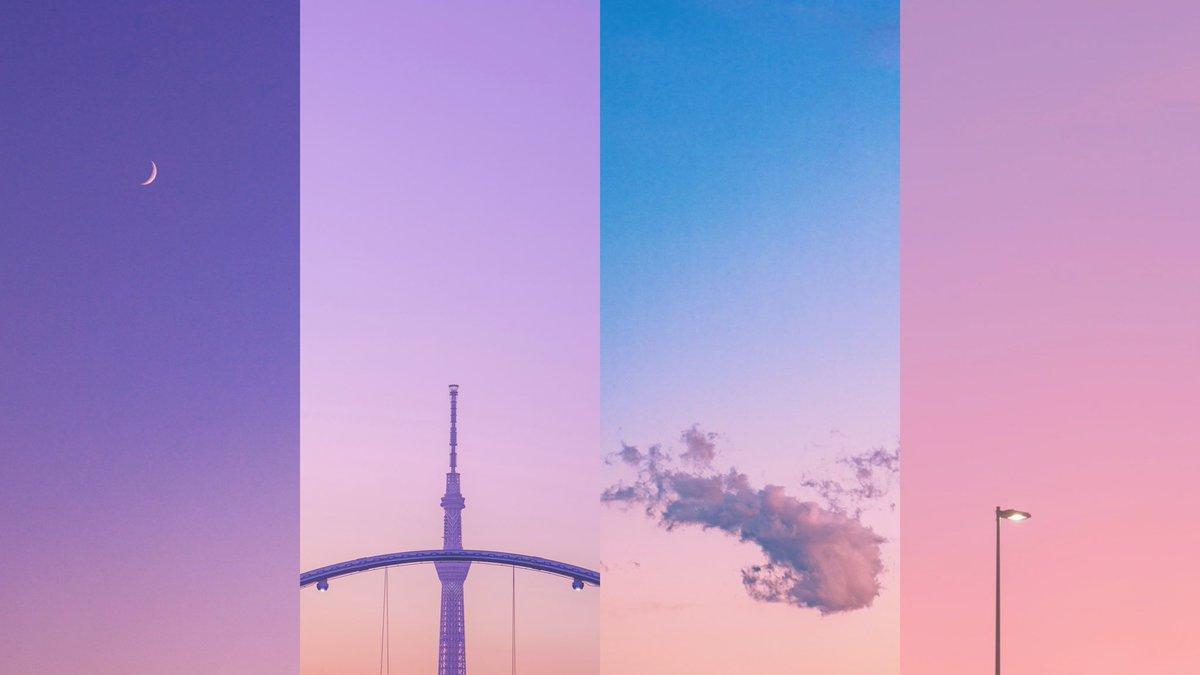 パステルカラーに染まった空が好きなんだ。