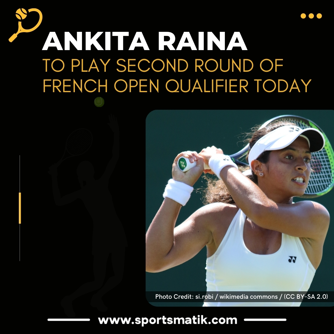 India's Ankita Raina will play in the second round of the French Open qualifier today where she will face Japan's Kurumi Nara. wishing you the best!  https://t.co/NOo0soezpM #tennis #tennisplayers  #Sportsmatik #todaynews #newsoftheday #news #newstoday #breakingnews #todayupdate https://t.co/yw08sxOkAU