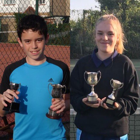 Our Junior Singles Champions for 2020: Daniel Blackburn and Megan Rooke, and the runners up Dominic Channo and Georgina Davies!  #tennis #finals #finalsday #sunshine #qualitytennis #singles #claycourt #sctc #sctcfinalsday2020 https://t.co/gSY6Bv9PNd