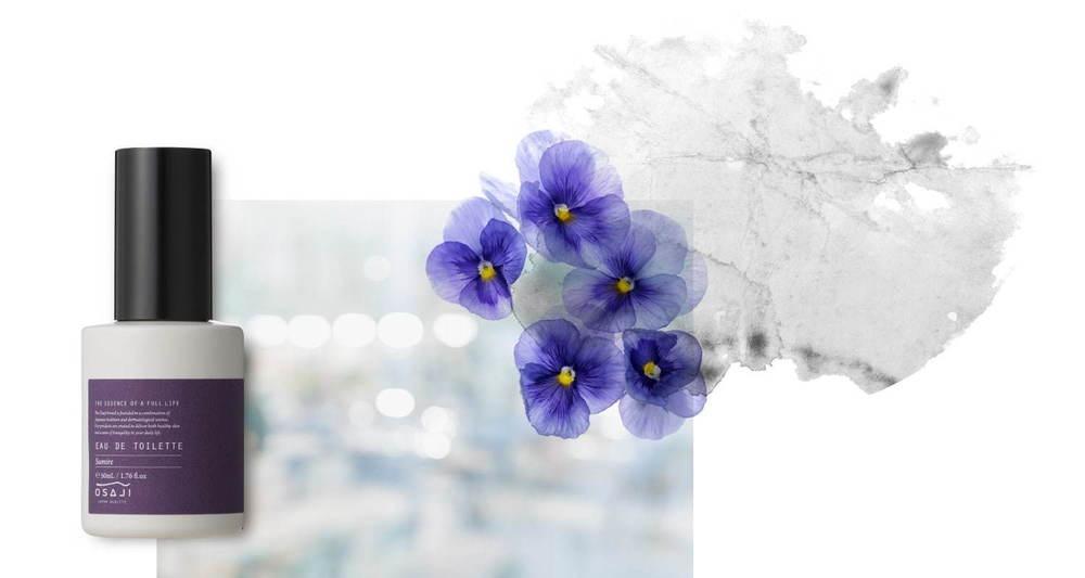"""オサジ初のフレグランス - """"藤やスミレ""""など日本由来の花の香りで、記憶や情景を表現 -"""
