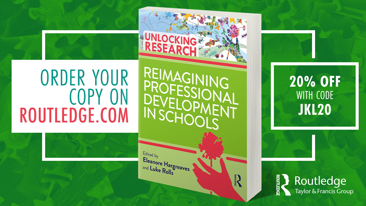 Reimagining Professional Development in Schools highlights the importance of using research evidence to develop teachers' practice within the realities of their own classrooms and schools. Order your copy today and save 20% with code JKL20 https://t.co/79vuzscgOR @UniCamPrimSch https://t.co/wmujTY3XDM