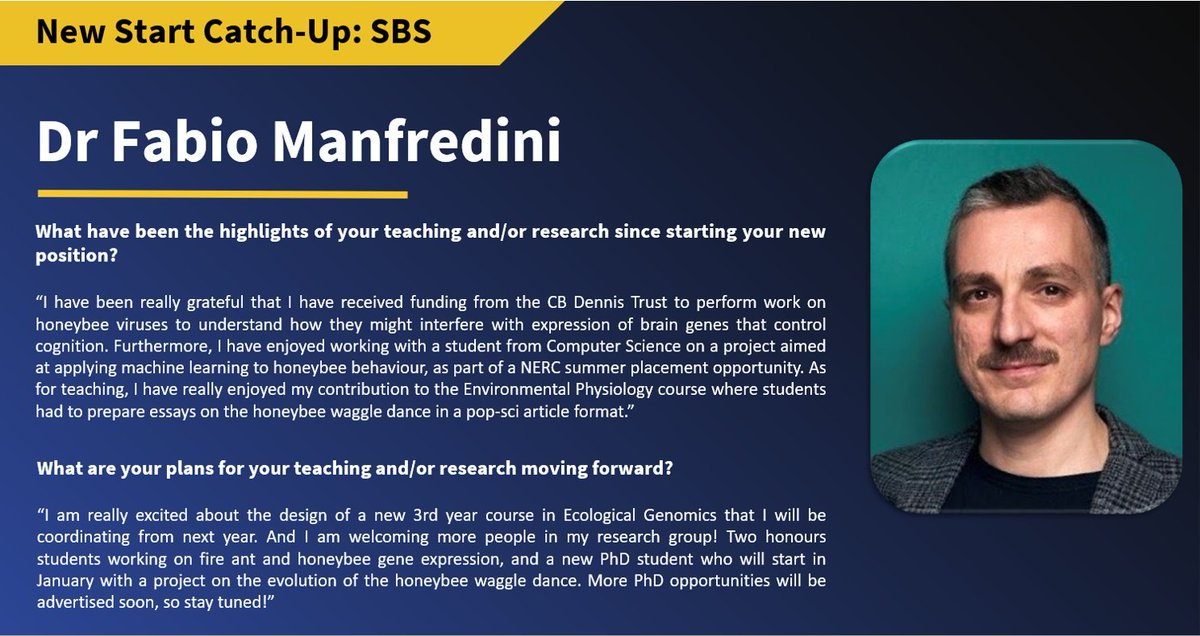 Fabio Manfredini has beeeen hard at work this summer, and is ready to dive into the new academic year with a brand new #undergraduate course and a new #PhD student studying the #honeybee waggle dance! @fmanfredini79 #natureonourdoorstep https://t.co/AqYOw7tclk