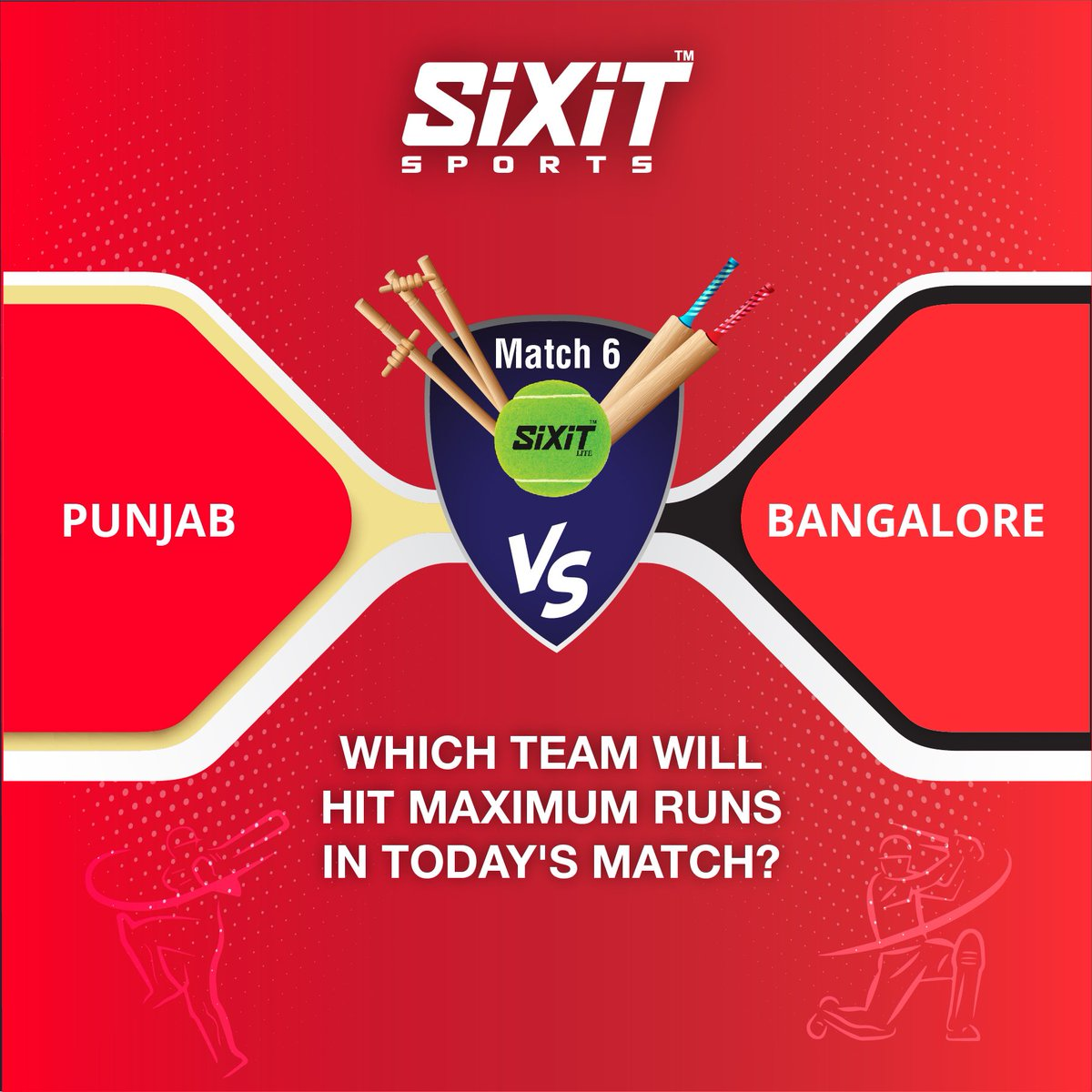 #WiNiT with #SiXiT #contest #Predict which team will take maximum #runs ?chance to win exciting prizes!Follow us @sixitsports #comment ur answer #RT #Share #tag friends  #KXIPvsRCB #RCBvsKXIP #Bangalore  #punjab#ContestAlert #giveaway #IPL2020#KXIP #RCB *T&C apply https://t.co/lE7hEWEIrf
