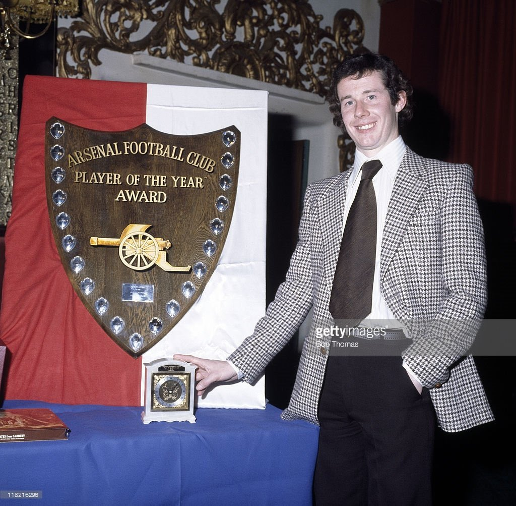Liam Brady with his Arsenal Player Of The Year awards won in 1978, 1979 and c.1977 #AFC