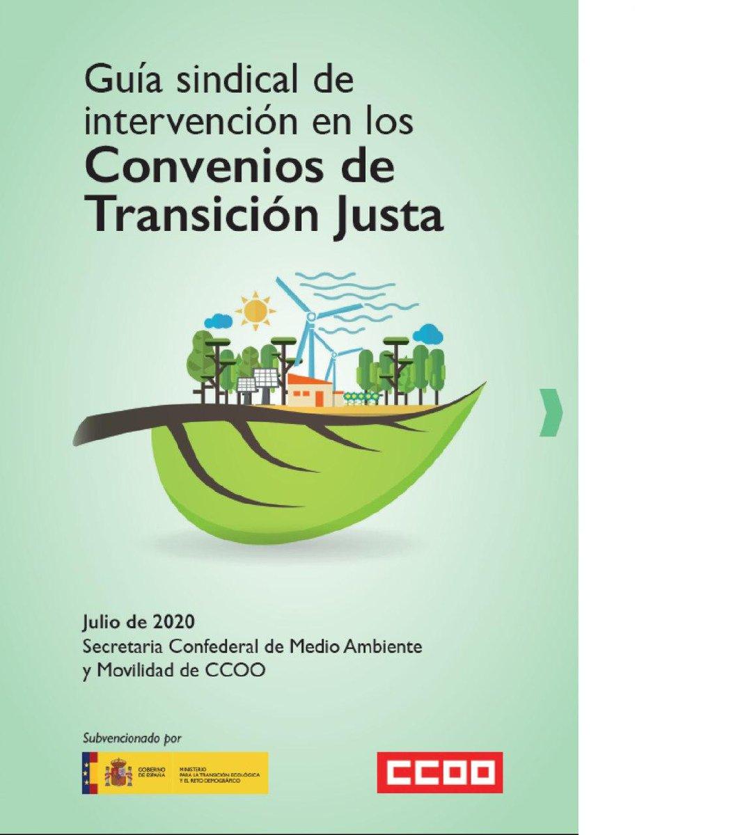 """El sindicato edita una """"Guía Sindical de intervención en los Convenios de Transición Justa"""" https://t.co/m4WRgjV2mj  Descargar guia https://t.co/SUdc5UQSAV https://t.co/BINmeQZLS7 #ecologismo #residuos #economiacircular #empleoverde #Mediombiente #clima https://t.co/UG0xD7k93o"""